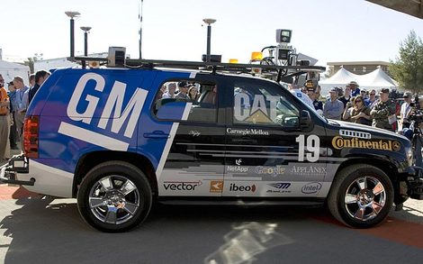 Carnegie Mellon Boss SUV, the winner of the 2007 DARPA Urban Grand Challenge (Motor Trend)