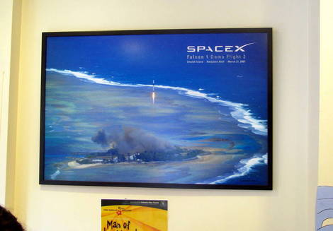 Picture in Picture -- SpaceX Falcon 1 Second Launch Attempt