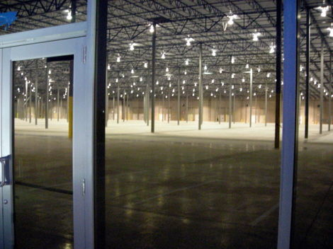 An empty new warehouse near Rickenbacker Airport