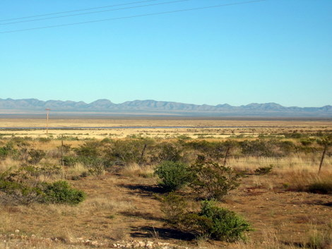 Scenery of the Journey of the Dead in the Camino Real desert near Truth or Consequences, New Mexico
