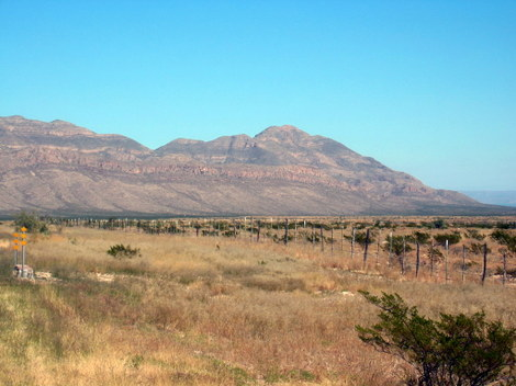 A photo of the beautiful mountains near Van Horn, Texas Blue Origin launch site