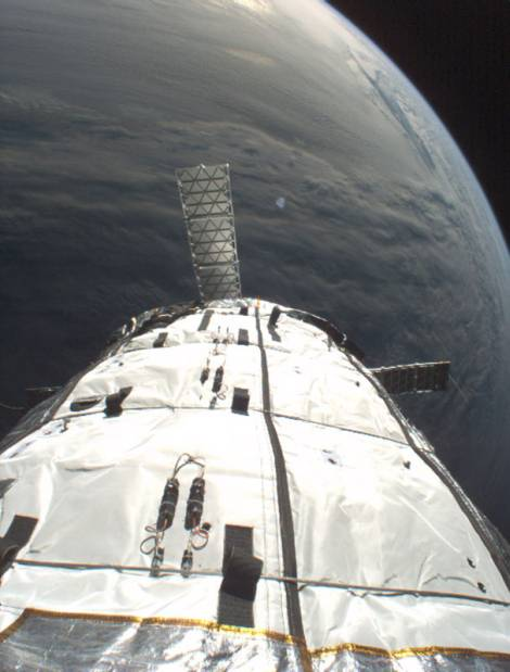 Photo of view of Earth from Genesis I Bigelow Aerospace space station module
