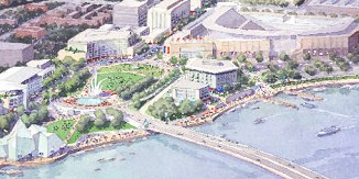 Conceptual artwork of new South Capitol Street bridge location